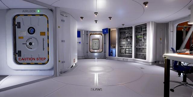 Mars 2030 VR image - base habitat interior