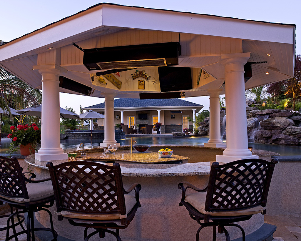 Interior Design Ideas Adorable Outdoor Kitchen Designs With Pool Supporting Healthy Lifestyle Of Modern People