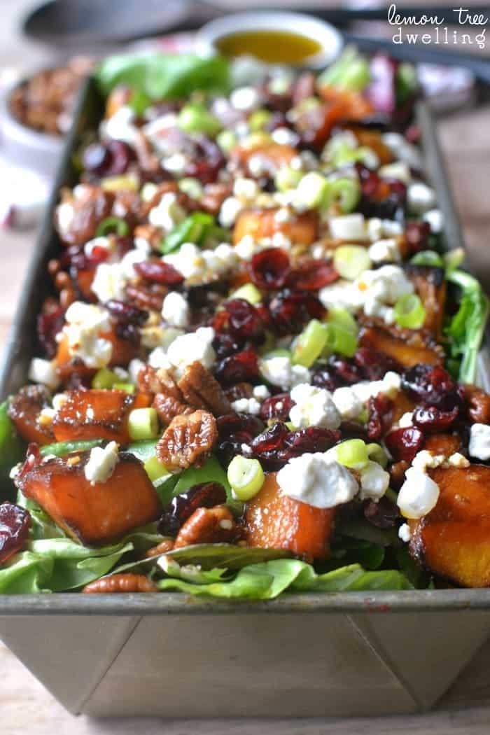 ROASTED BUTTERNUT SQUASH SALAD #dinner #healthyrecipes #meals #Easy #salad