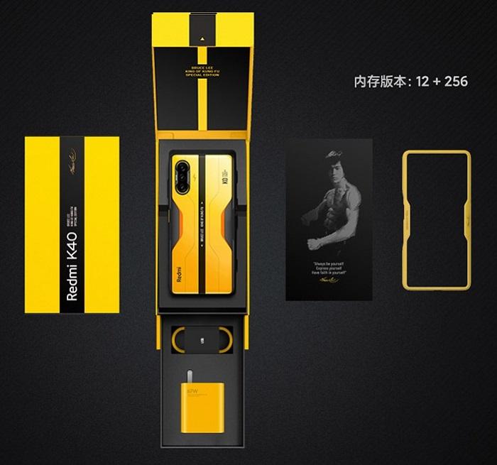Box Xiaomi Redmi K40 Bruce Lee Special Edition Gaming Smartphone