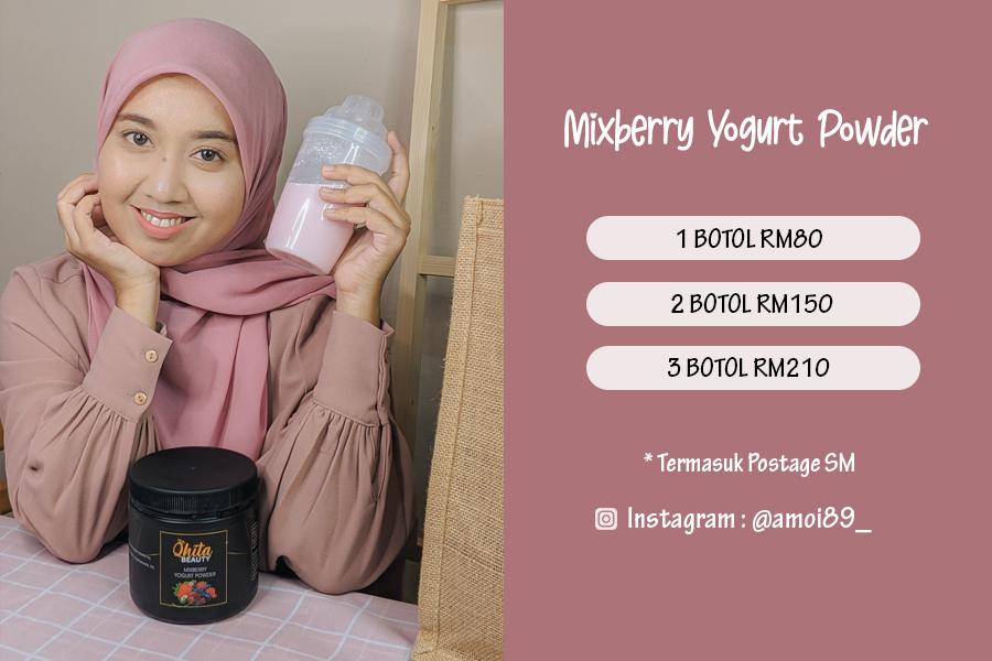 Mixberry Yogurt Powder Drink Untuk Kulit Cantik Dan Beri Tenaga Pada Badan