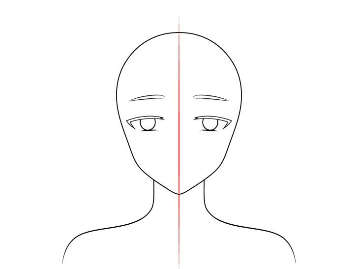 Gadis peri anime mengangkat alis menggambar