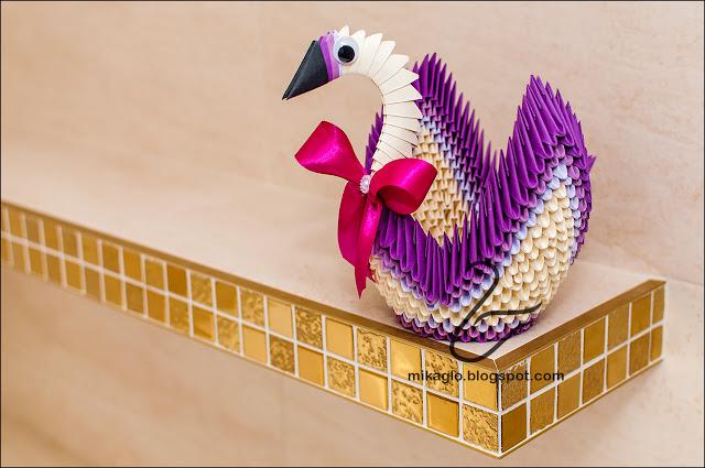 694. Łabędź z origami / 3d origami swan