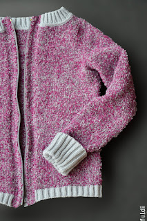 knitted boucle zipped sweater passap