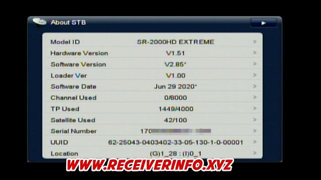 STARSAT SR-2000HD EXTREME  NEW SOFTWARE 2.85 UPDATE