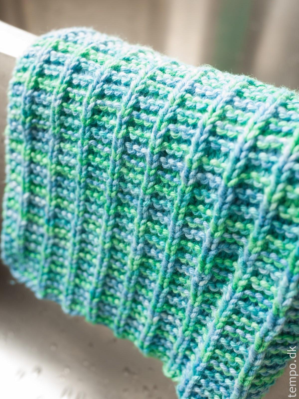 Grønne og blå strikkede klude