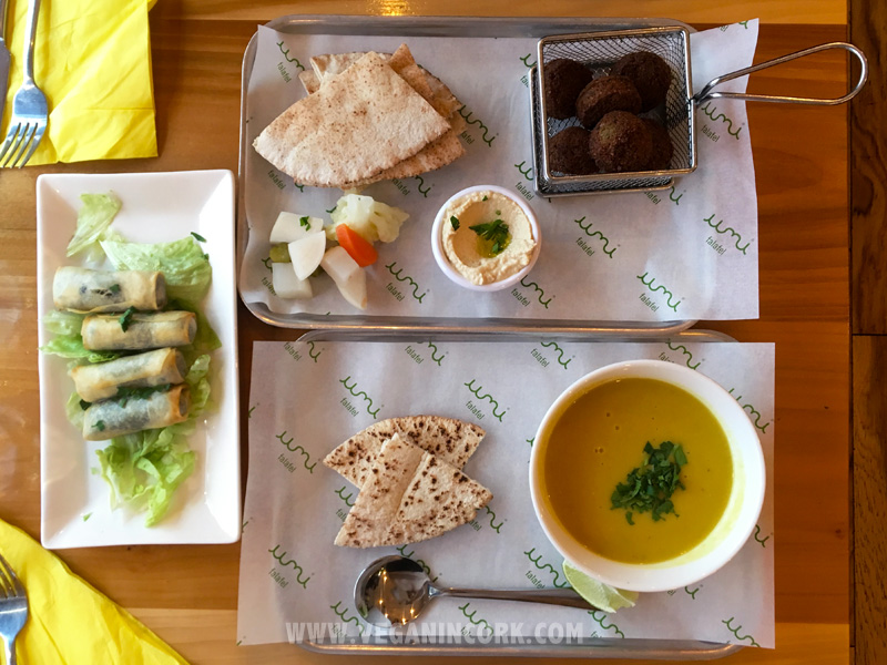 Falafel and soup from Umi Cork