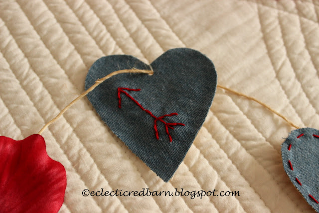 Eclectic Red Barn: Valentine hearts with arrow