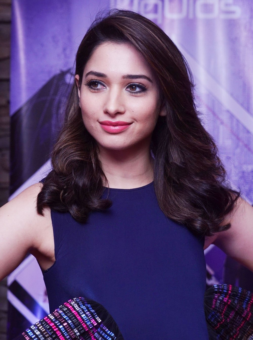 Actress Tamannaah Long hair Face Close up Photos
