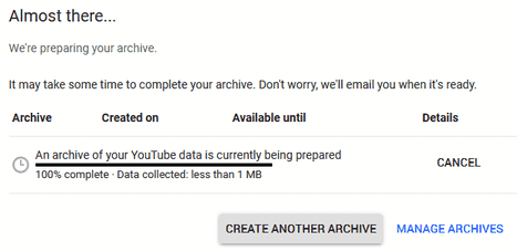 archive preparation
