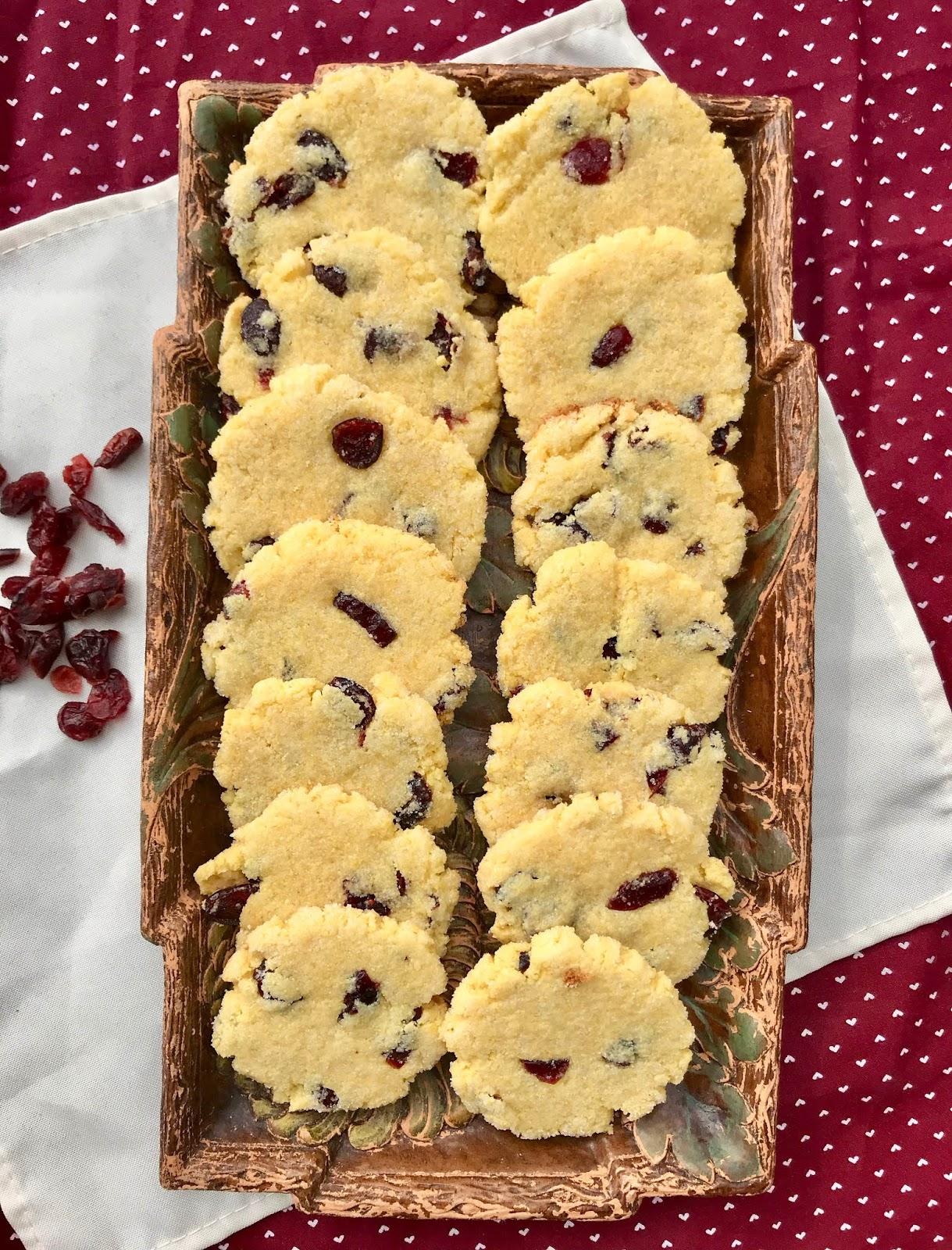 Cranberry Cornmeal Cookies