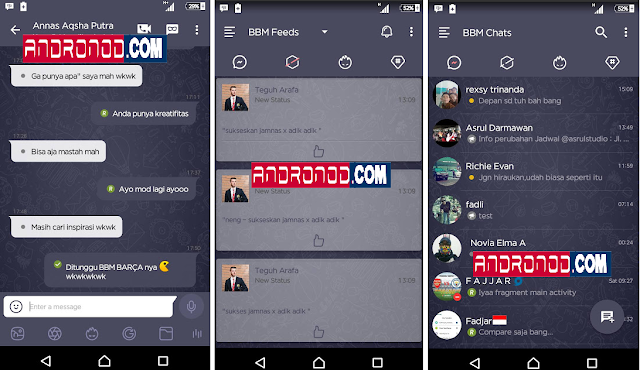 Download BBM Mod Dark Navy v3.0.0.18 Apk