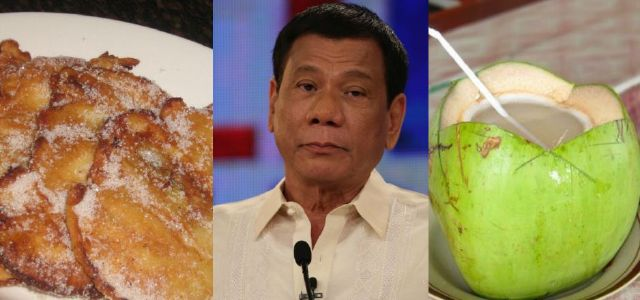 Maruya at buko juice ang merienda sa inauguration ni Duterte