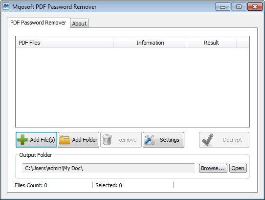 Mgosoft PDF Password Remover 9.8.5 - Phá mật khẩu file pdf