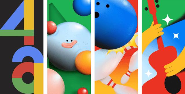 تنزيل خلفيات هاتف Google Pixel 4a Stock [ دقة عالية FHD - تحميل مباشر ]