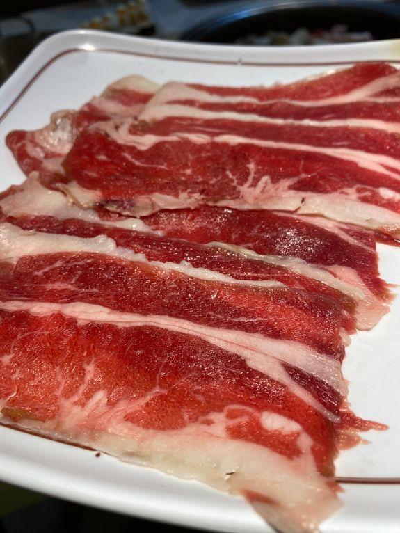 Beef strips at Tong Yang Shabu-Shabu