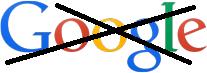 Googleのロゴの上にバッテン