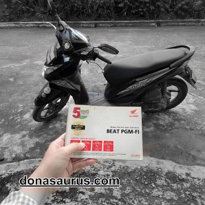 buku servis dan garansi pemilik kendaraan bermotor