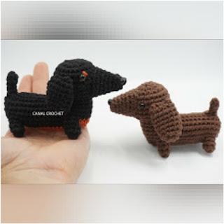 patron amigurumi perro salchicha canal crochet