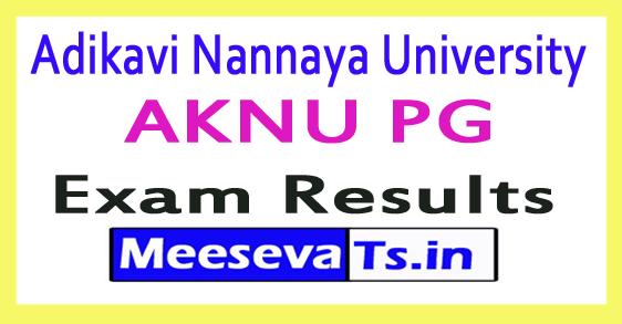 Adikavi Nannaya University AKNU PG Exam Results 2017