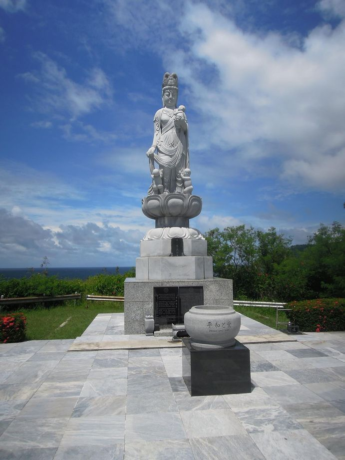 Statue of a Japanese fertility deity at Corregidor Island