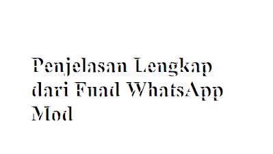 Penjelasan Lengkap dari Fuad WhatsApp Mod