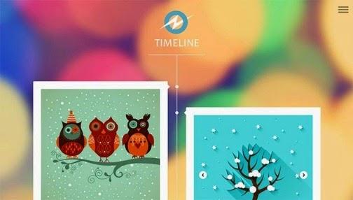 Timeline Responsive Blogger Template de Themexpose.