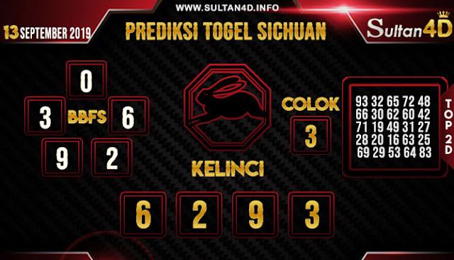 PREDIKSI TOGEL SICHUAN SULTAN4D 13 SEPTEMBER 2019