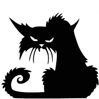 imágenes y gifs gatos negros halloween