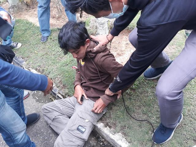 Aksi Demo UU Ciptaker di Gedung DPRD Propinsi Jambi, Polisi Amankan Sejumlah Pelajar
