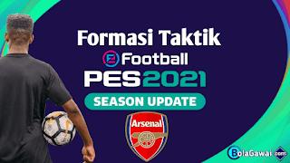 Formasi Terbaik Arsenal di PES 2021