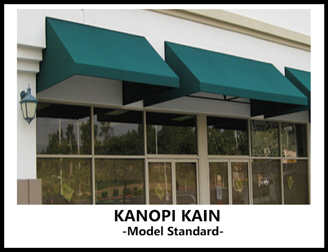 kanopi kain model standar