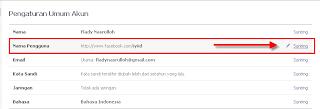 Silahkan pilih Nama Pengguna, lalu klik Sunting