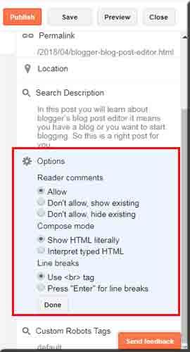 Post Editor