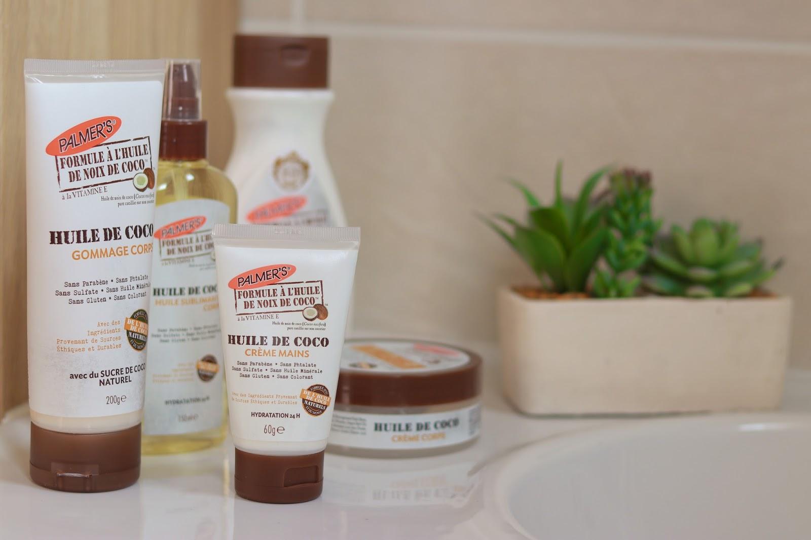 palmers palmer's huile de noix de coco gamme beaute sans parabene avis positif victoires de la beauté les gommettes de melo shampooing lait hydratant