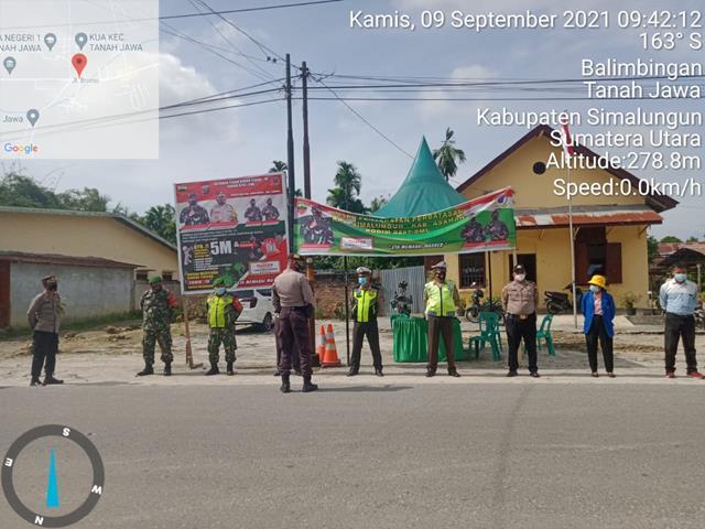 Putus Mata Rantai Penyebaran Covid-19, Ops Penyekatan PPKM Dilaksanakan Personel Jajaran Kodim 0207/Simalungun
