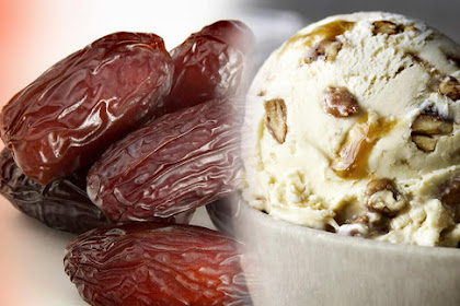 dates palm ice cream - pecans