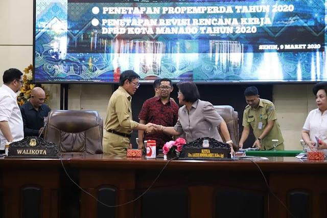 DPRD Kota Manado Gelar Paripurna PROPEMPERDA 2020 dan Penetapan Revisi Rencana Kerja DPRD Kota Manado 2020