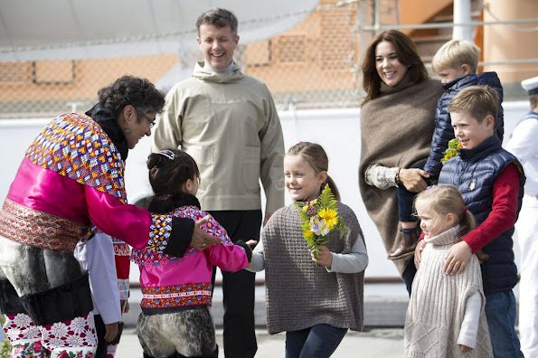 Princess Mary and their children visited Paamiut,Greenlad