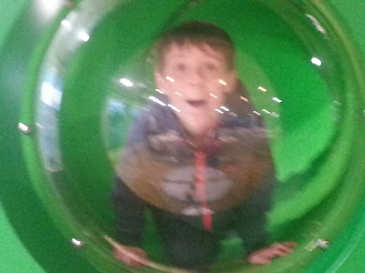 Boy in Perspex Bubble
