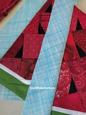 watermelon wedge for a table runner by QuiltFabrication