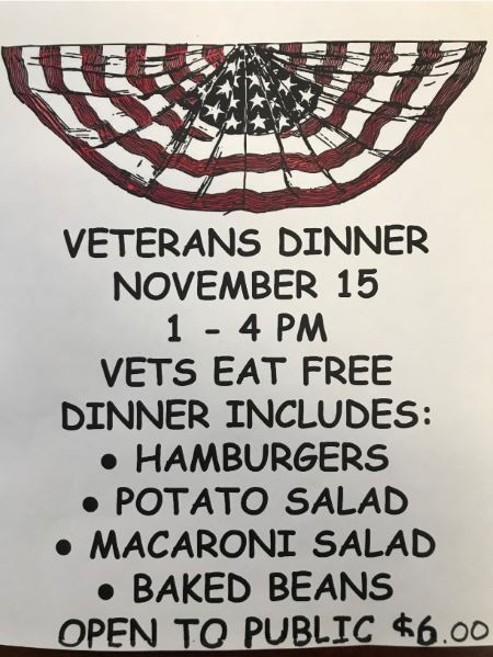 11-15  Veterans Dinner At The Austin VFW
