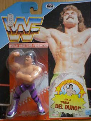 L'action figure di Ravishing Rick Rude Hasbro Gig in italiano