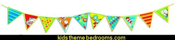 Dr. Seuss Pennant Banner