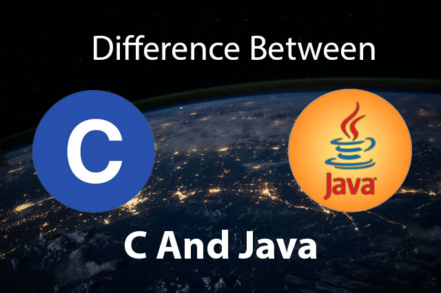 Difference between C and Java language