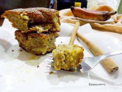 Niken's Basic Banana Cake with Honey Lemon Butter || homefoodstory.blogspot.com