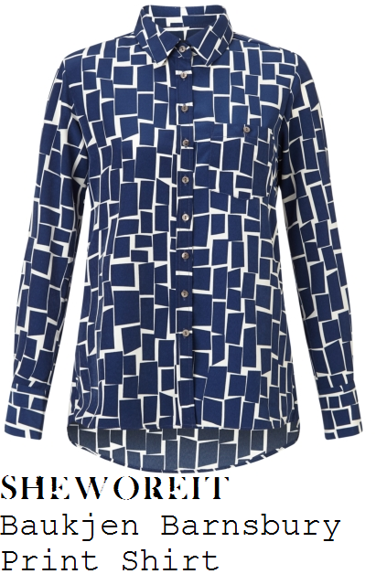 holly-willoughby-navy-blue-white-tile-print-long-sleeve-collared-shirt-this-morning