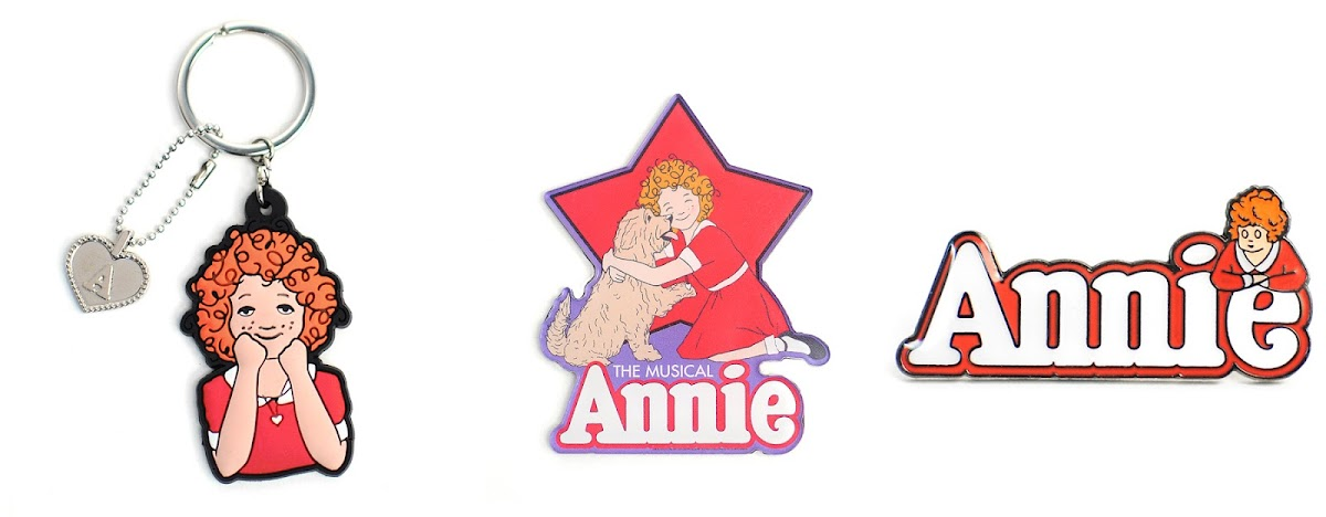 Picture of Annie the Musical keychain and stickers