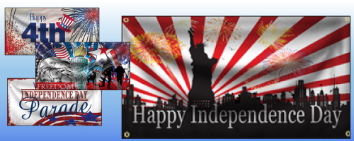 4th of July Banners and Signs