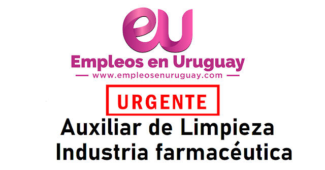 URGENTE Auxiliar de Limpieza - Industria farmacéutica